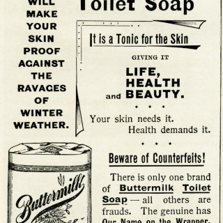 buttermilk toilet soap vintage advertisement, free vintage clipart, vintage advertising image, vintage beauty ad, vintage ephemera, digital clipart for graphic design, free digital image for crafts