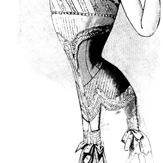 French Corset Ad Vintage Image