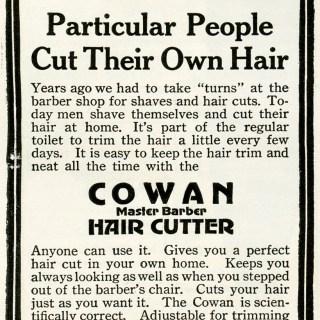 Cowan Hair Cutter Vintage Advertisement