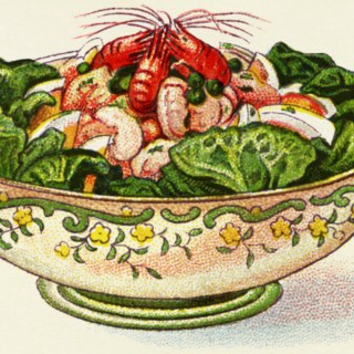 Prawn Salad Vintage Image