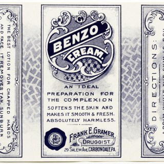 Benzo Cream Label ~ Free Vintage Graphic