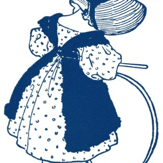 Little Girl With Hoop ~ Free Vintage Clipart