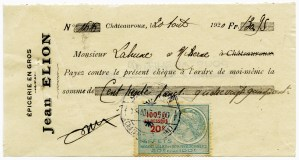 french ephemera, vintage french cheque, french check image, vintage french graphic, epicerie en gros, jean elion
