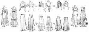 ladies vintage clothing, vintage fashion, women's clothing, 1915 ladies fashion, free vintage image, free vintage clipart clothing
