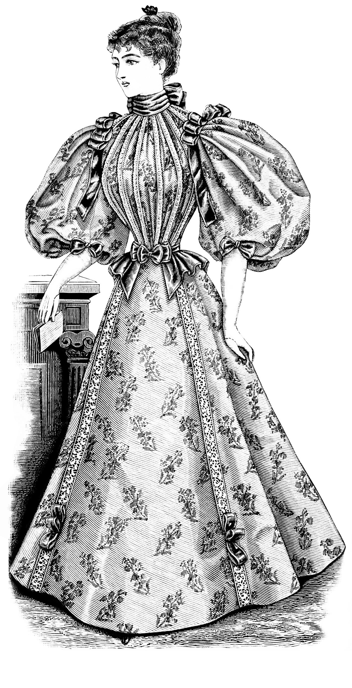 Free Vintage Image Victorian Lady Clip Art Old Design