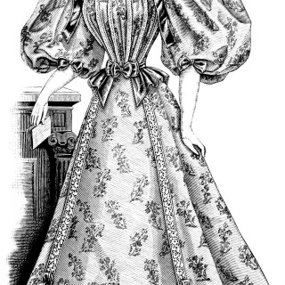 Free Vintage Image ~ Victorian Lady Clip Art