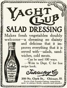 free vintage image, free vintage ad, yacht club salad dressing, vintage advertisement, old magazine ad, vintage clipart ad, old fashioned advertising
