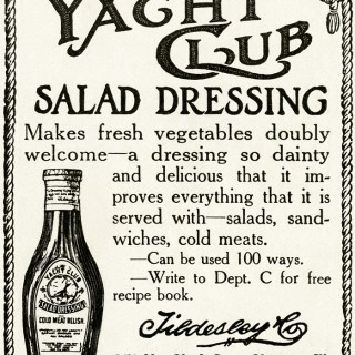 Yacht Club Salad Dressing Ad ~ Vintage Clipart