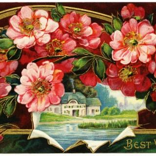 Free Vintage Image ~ Best Wishes Postcard