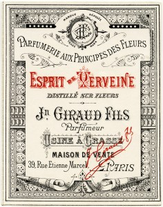 vintage french label, giraud fils graphic, free vintage french image, antique perfume label, digital perfume label