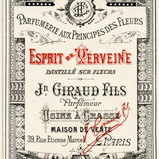 Jn Giraud Fils French Perfume Label
