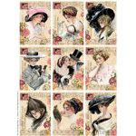 New Digital Collage Sheet Available in my Etsy Shop ~ Harrison Fisher Girls Altered Post Cards Set 2
