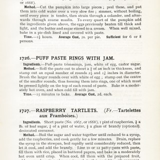 Mrs. Beeton's Recipes for Pastry