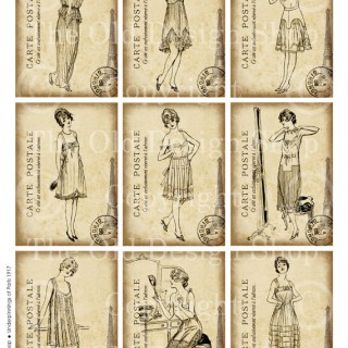 New Digital Collage Sheet in my Etsy Shop ~ Vintage Underpinnings from Paris 1917