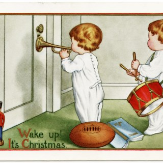 Vintage Whitney Postcard ~ Wake up! It's Christmas.