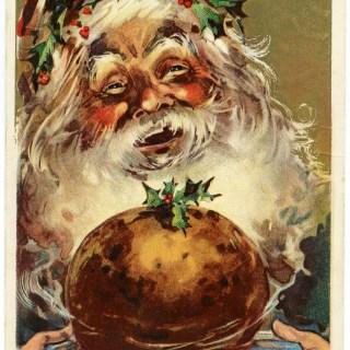 Free Vintage Image ~ Jolly Santa Postcard