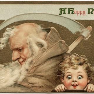 Frances Brundage Happy New Year Postcard