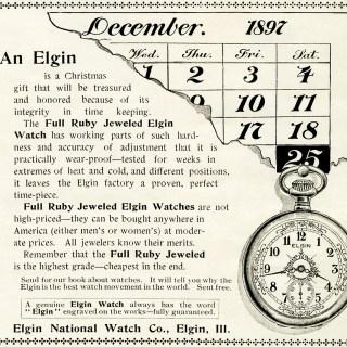 Free Vintage Image ~ Elgin Watch Magazine Ad