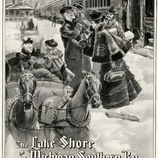 Lake Shore & Michigan Southern Railway Christmas Ad