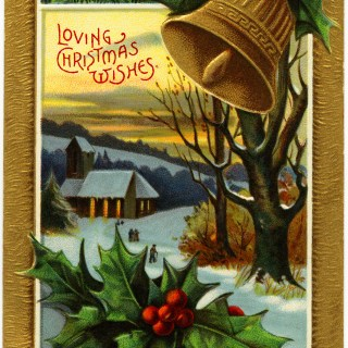 Free Vintage Image ~ Loving Christmas Wishes Postcard