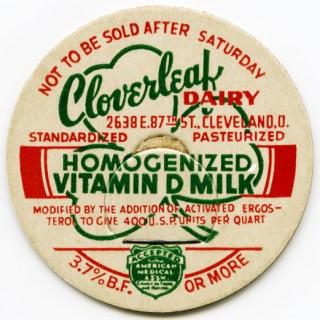 Free Vintage Image ~ Cloverleaf Dairy Milk Bottle Cap