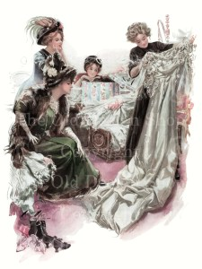 harrison fisher the trousseau, vintage wedding, love and marriage, high res digital image