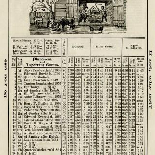 Free Vintage Image ~ Herrick's Almanac 1906, January