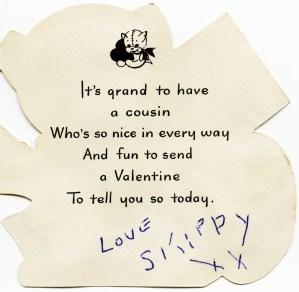 red kitten valentine, vintage valentine clip art, cat with white hearts valentine card, royalty free valentine graphic, public domain valentine image
