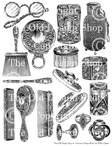 victorian clip art, black and white vintage clipart, digital collage sheet