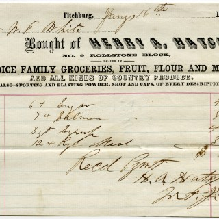 Free Vintage Image ~ 1860 Grocery Receipt