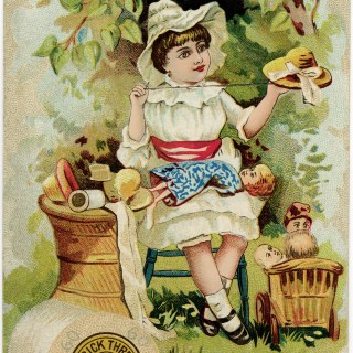 Free Vintage Image ~ Merrick Thread Trading Card