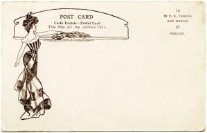 adolph selige, victorian lady, free vintage postcard, old postcard back, antique postcard download
