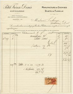 vintage French receipt, antique document, old invoice, aged paper, free digital graphics