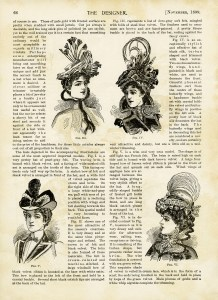 vintage hat clipart, antique millinery, victorian hat styles, edwardian fashion, free digital graphics, elegant hat image
