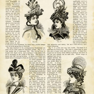 Free Vintage Images ~ 1899 Magazine Millinery Page and Clipart #2