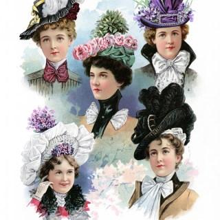 Free Vintage Image ~ Victorian Spring Hats