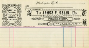 vintage medical receipt, old fashioned invoice, digital ornamental graphics, antique pharmacy clip art, old paper image