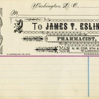 Free Vintage Image ~ Medical Pharmacist Receipt