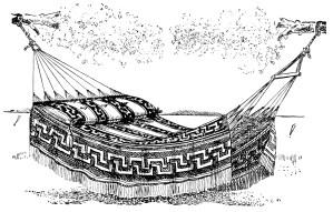 antique hammock illustration, black and white clip art, jacquard design hammock, vintage hammock clipart, old fashioned summer printable