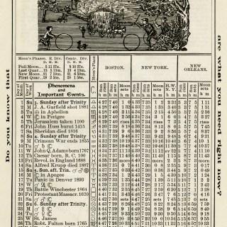 Free Vintage Image ~ Herrick's Almanac 1906, July