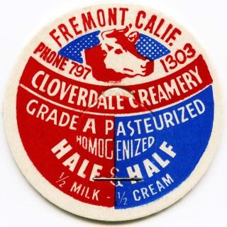 Free Vintage Image ~ Cloverdale Creamery Milk Bottle Cap
