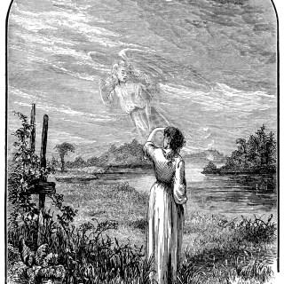Free Vintage Image ~ Angel Waving Goodbye