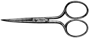 vintage sewing clip art, clipart scissors, old magazine advertisement, work basket scissors ad, free vintage image, embroidery scissors illustration