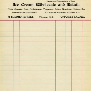 Free Vintage Image ~ Old Grocery Invoice