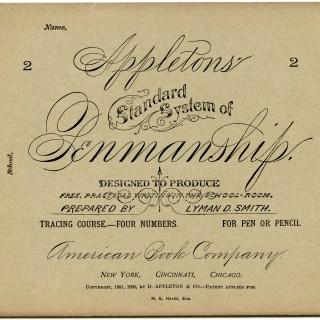 Free Vintage Image ~ Appleton's Penmanship Booklet Covers