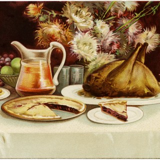 Clapsaddle Postcard Thanksgiving Table