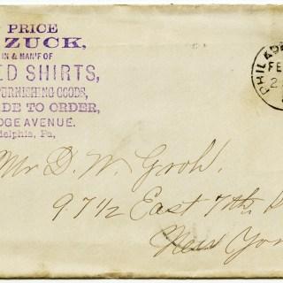 Free Vintage Image ~ Antique Envelope Postmarked 1887