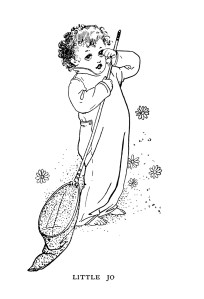 vintage storybook boy, boy with butterfly net, black and white child clip art, childrens story image, clipart boy illustration