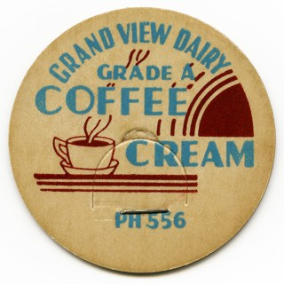 Free Vintage Image ~ Coffee Cream Milk Bottle Cap
