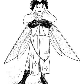 Free Vintage Image ~ Monk's Hood Storybook Character